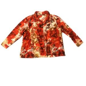 Jane Ashley Button Up Map Pink Brown